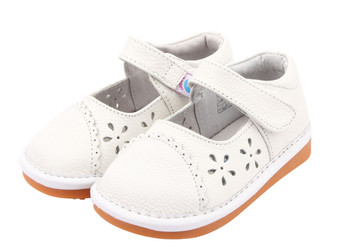 "Freycoo ""Dayna"" White Leather Shoes"
