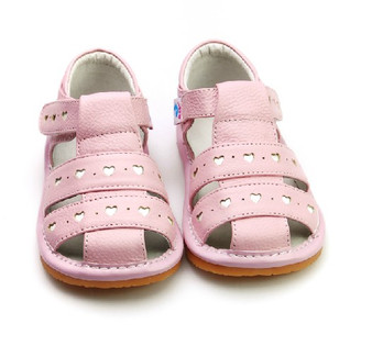 """Freycoo """"Lucy"""" Pink Leather Sandals"""