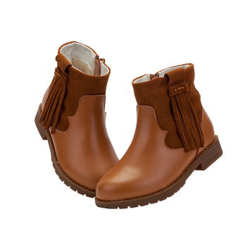 """TS """"Winona"""" Caramel Leather Ankle Boots"""