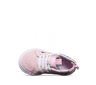 Vans Girls SK-8 Metallic Heart Pink  Toddler High Tops Aus 3 only