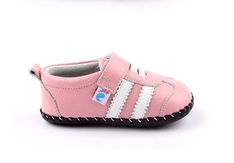 "Freycoo ""Sneaky"" Pink Leather Soft Sole Shoes"