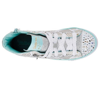 Skechers Twinkle Toes Step Up Glitzy Kicks Girls High Tops Aus 10 only