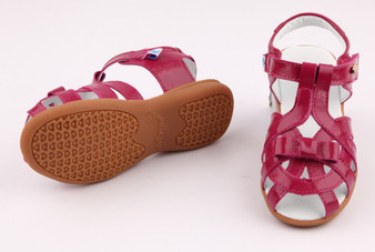 "Freycoo ""Tilly"" magenta leather girls sandals"