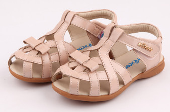 "Freycoo ""Tilly"" pink leather girls sandals"