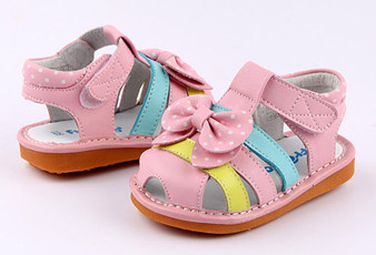 "Freycoo ""Freya"" Pink Leather Sandals"
