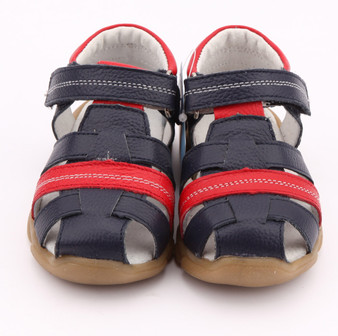 "Freycoo ""Max"" Navy Leather Sandals"