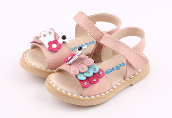 """Pre Order Freycoo """"Peacock"""" Pink Leather Sandals"""