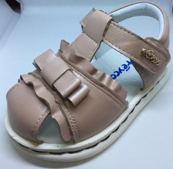 """Freycoo """"Missy"""" Dusty Pink Leather Sandals Aus 5.5 only"""