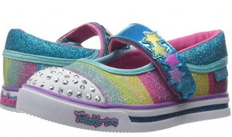 Skechers Twinkle Toes Sparkle Glitz Glam girls Light Ups Aus 5 only