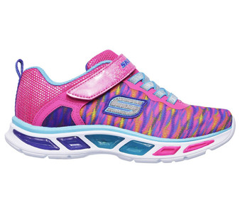Skechers Litebeams Neon Pink Light Up Toddler Girls Sneakers
