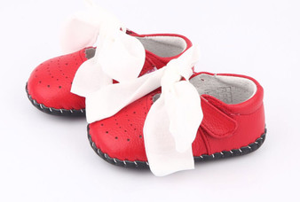 "Freycoo ""Macey"" Red Soft Sole Leather Shoes"
