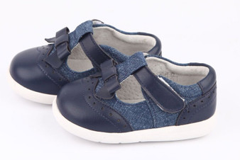 "Pre Order Freycoo ""Bianca""  Navy Leather Shoes"