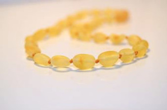 Grace & Favour Baltic Amber Teething Necklace Raw Sand