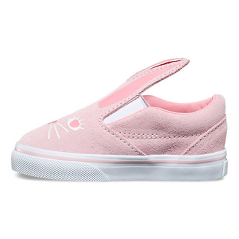 Vans Slip-On Bunny Chalk Pink Girls Toddler Shoes