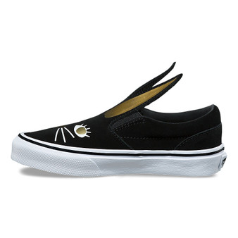 Vans Slip-On Bunny Black  Girls  Shoes