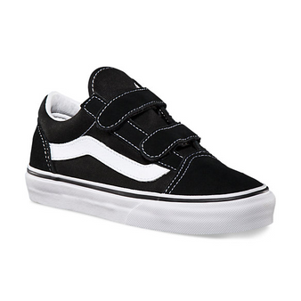 Vans Old Skool V Black Kids Shoes