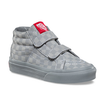Vans SK8-Mid V Grey Checkerboard Re Issue Kids Shoes US6/Aus 5
