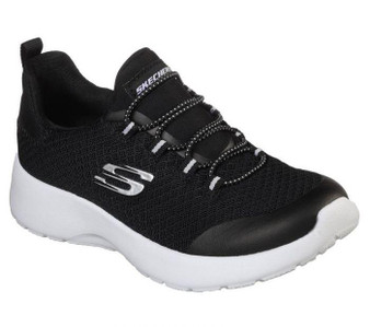 Skechers Dynamight Race N Run Black Girls Sneakers