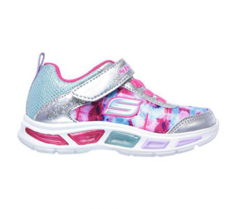 Skechers Litebeams Dance n Glow Light Up Toddler Girls Sneakers US5