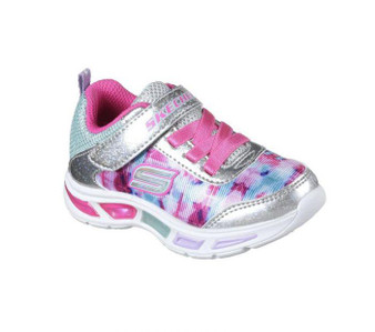 Skechers Litebeams Dance n Glow Light Up Toddler Girls Sneakers