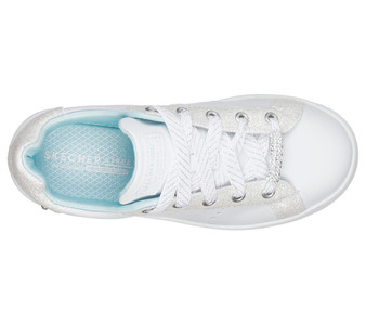 Skechers Omne Sparkle Street Girls White Sneakers