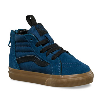 Vans SK8-Hi Zip Dark Denim Toddler Shoes