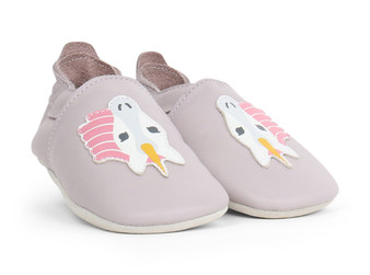 Bobux Unicorn Lilac Soft Sole Shoes