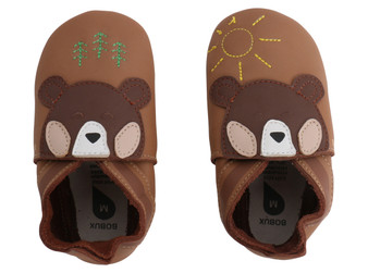 Bobux Bear Caramel Soft Sole Shoes