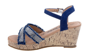 Kensie Girls Denim Wedge Girls Sandal