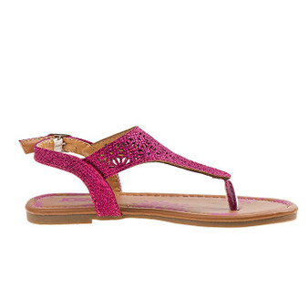 Josmo T-Strap Thong Girls pink glitter Sandals