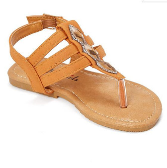 Tan Triple Strap Thong Sandal
