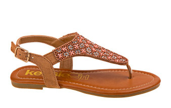 Kensie Girl Speckle Studded Girls Sandal