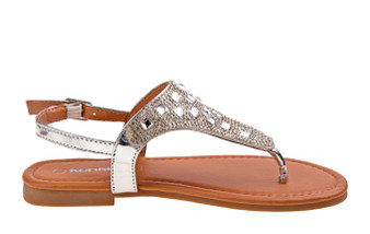 Kensie Girl Silver Studded Girls Sandal