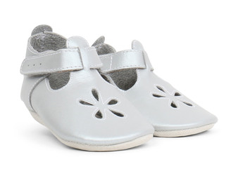 Bobux Daisy Silver Soft Sole Shoes