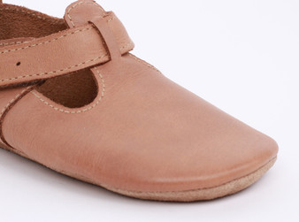 Bobux Jack and Jill Caramel Soft Sole Shoes