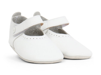 Bobux Delight White Soft Sole Shoes