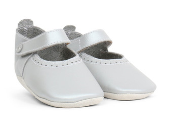 Bobux Delight Silver Soft Sole Shoes