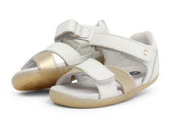 Bobux Step Up Sail Misty Gold & White  Sandals
