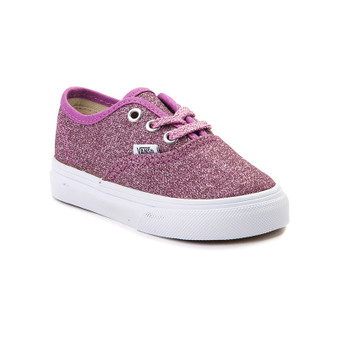 Vans Authentic Lurex Glitter Pink Girls Toddler Shoes