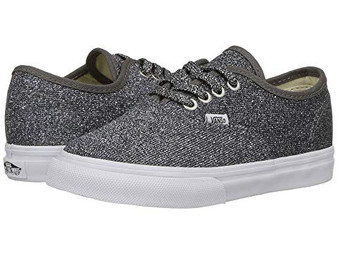Vans Authentic Lurex Glitter Black Girls Shoes