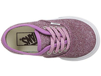 Vans Authentic Lurex Glitter Pink Girls Shoes