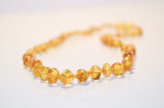Grace & Favour Baltic Amber Growing Child 38cm Necklace Polished Cider for Ages 5 +
