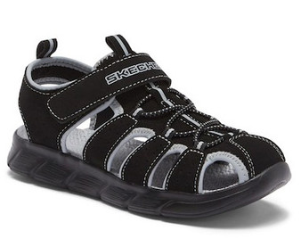 Skechers C-Flex Black boys kids sandals