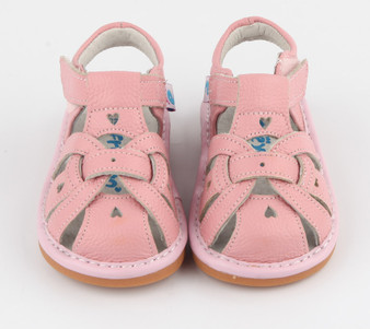 "Freycoo ""Louise"" Girls Pink Leather Sandals"