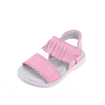"Caroch ""Luella"" Pink Leather Sandals"