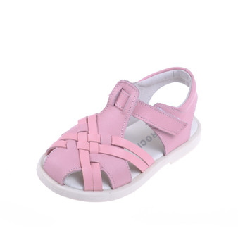 "Caroch ""Kirsty"" Pink Leather Sandals"