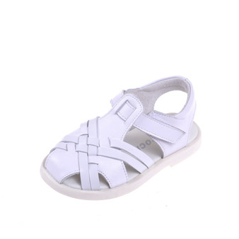 "Caroch ""Kirsty"" White Leather Sandals Aus 5"