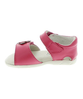 Footmates Fluer Hot Pink Leather Sandal