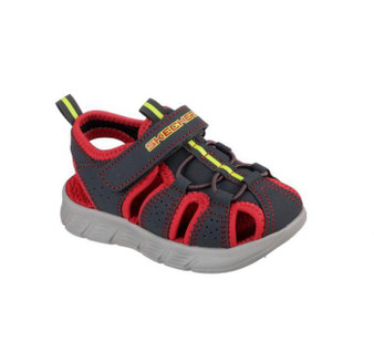 Skechers C-Flex Charcoal boys toddler sandals