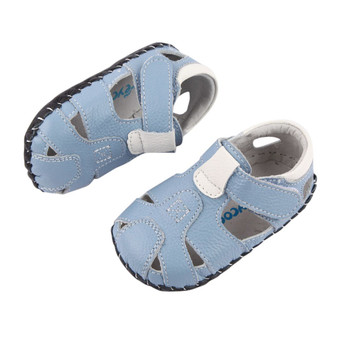 """Pre Order Freycoo """"Breezy"""" Blue Leather Soft Sole Sandals"""